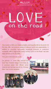 Love on the road--BBL's large-scale charity