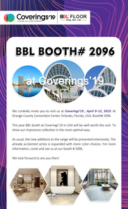 BBL Booth #2096 at Coverings'19